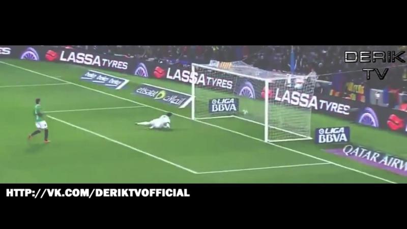 Great goal Dani Alves•Barcelona 6-1 Villanovense