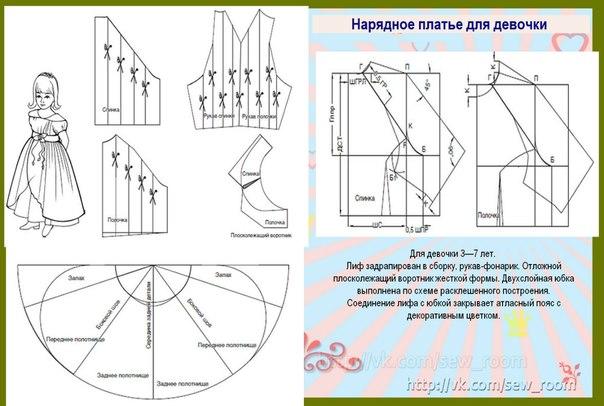 Как сшить платье своими руками для девочки с выкройками 480