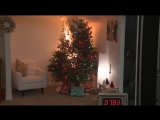 Новогодняя ёлка загорается за несколько секунд!