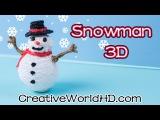 Как нарисовать снеговика 3D ручкой