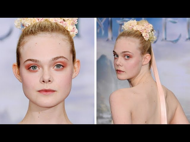 Elle Fanning Maleficent Red Carpet Makeup Tutorial