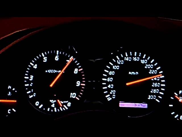 Nissan Skyline R34 GTR ускорение и максимальная скорость