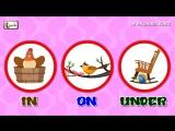 In On Under Song - Prepositions in English grammar for children - elearnin
