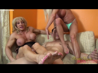 Ashlee Chambers and Wild Kat – He Expected A Massage. He Got A Muscle Threesome