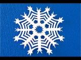 DIY. Как вырезать снежинки из бумаги на Новый год. How to cut a paper snowflake