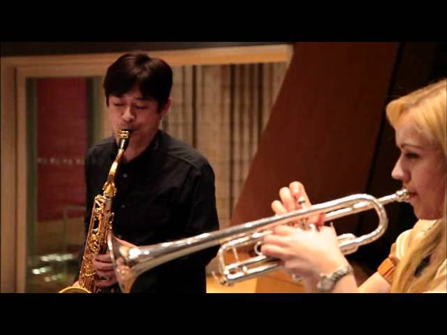 Ясуто Танака (тенор-саксофон) и труба (не могу перевести имени трубачки) - Вечная история