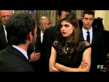 Charlie slams rich girl for the waitress