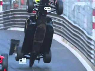 Conor Daly Monaco crash GP3 Slow Motion Marshal Formula 1