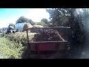 Внесение навоза разбрасывателем РОУ-6 тракторами МТЗ 82.1 и ЮМЗ -6 [SJ4000]