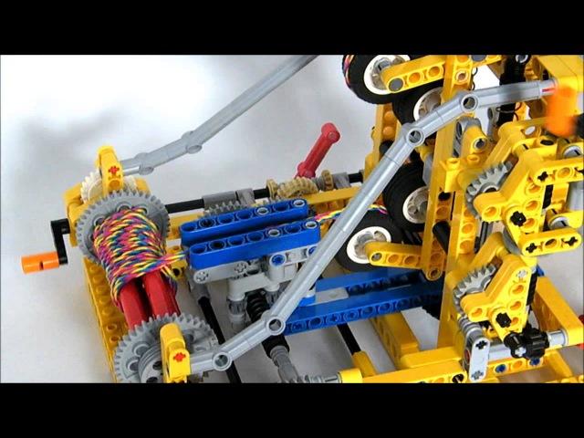 Lego Technic - Braiding Machine Makes Wristband ! By Nico71