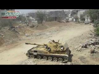 Сирия 2С3 «Ака́ция» наносит ответный удар
