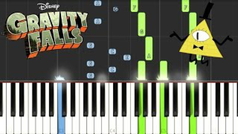 Gravity Falls - Opening Theme/Weirdmageddon [Piano Tutorial]