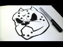 как рисовать Питбуль собака Граффити