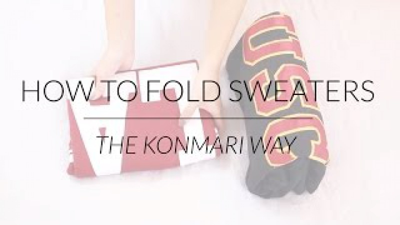 How to Fold Sweaters Hoodies   KonMari Method by Marie Kondo