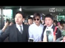 20160414 TVDaily Lee Min Ho arrived Gimpo Airport from Beijng
