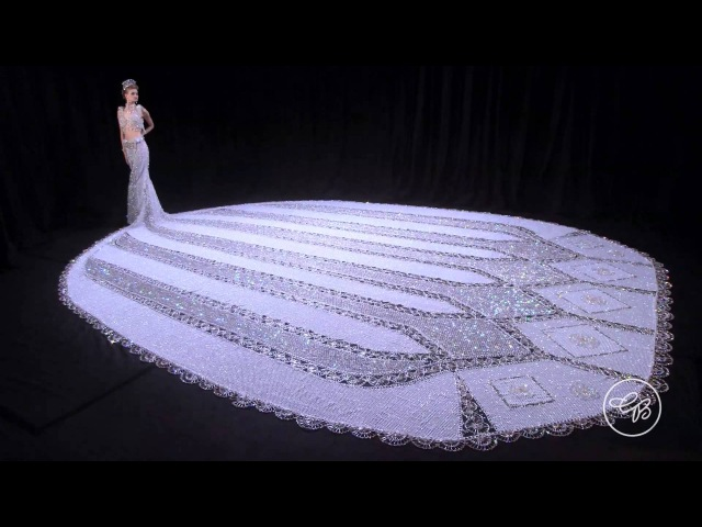 World's Largest Beaded Wedding Dress: Gail Be Designs