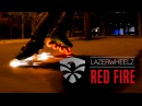 Lazerwheelz RED FIRE Freeskate at night