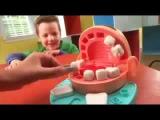 Dr Drill & Fill / Игровой набор Пластилина Мистер Зубастик - Play Doh - Hasbro