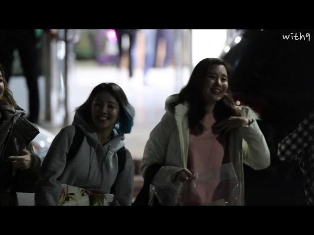 소녀시대 단독콘서트 퇴근길 (수영, 유리, 서현, 써니,효연, 태연)