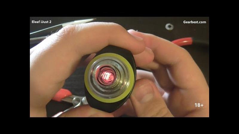 Eleaf iJust 2 намотка необслужки на горизонтальную спираль (под вариватт)
