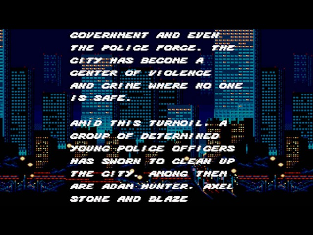 Streets of Rage: Opening (HD)