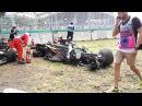 Формула 1 Гран при Австралии болид Алонсо превратился вгруду металла: видео аварии