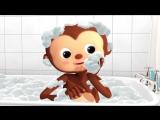 Bath Song - Nursery Rhymes - музыкальный мультфильм на английском языке для детей 0-6 лет