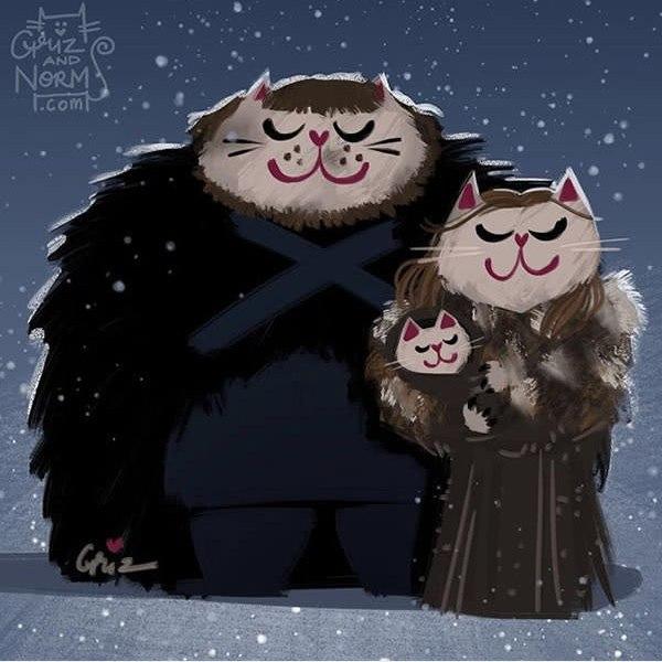 V mBjwfHiVs - Коты из сериала «Игра престолов»