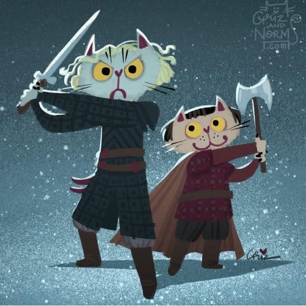WE89VdozzS4 - Коты из сериала «Игра престолов»