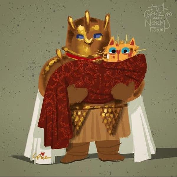 pr4UPBkQi70 - Коты из сериала «Игра престолов»