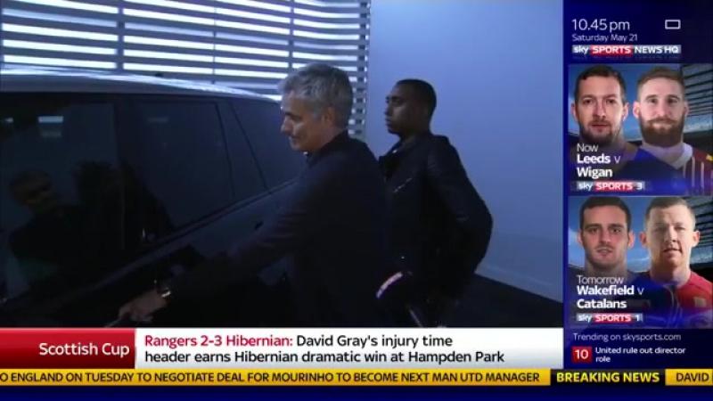 Jose Mourinho Congratulates LVG on winning the FA Cup