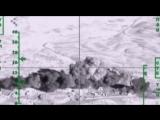 Уничтожение базы террористов ударом Ту-22М3 в провинции Дейр-Эз-Зор. Сирия.
