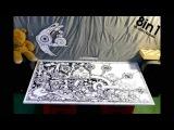 Огромный рисунок маркером, 100 часов за 3 минуты  Monkie - Fruitmotion