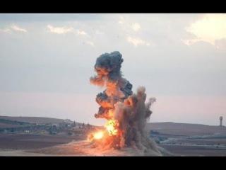 Сирия.Удар двумя крылатыми ракетами по командному пункту и складу террористов в провинции Идлиб