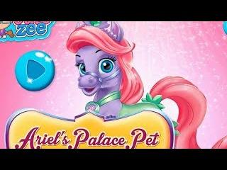 NEW Игры для детей—Disney Принцесса русалочка Ариэль и питомец—мультик для девочек
