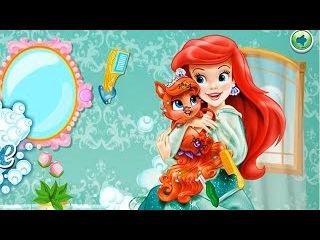 NEW Игры для детей—Disney Принцесса Русалочка Ариэль заботится о питомце—мультик для девочек