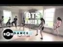 BTS I Need U Dance Tutorial (Chorus)