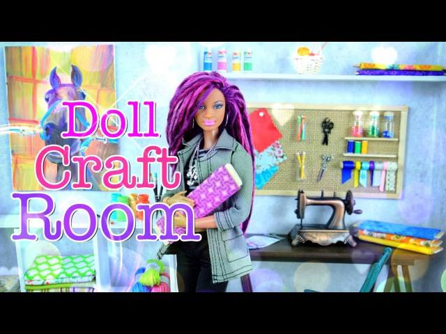 DIY - How to Make: Doll Room in a Box: Craft Room - Handmade - Crafts- 4K