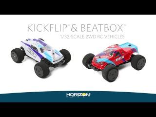 ECX 1/36 KickFlip 2WD Desert Truck and 1/36 BeatBox 2WD Monster Truck RTR