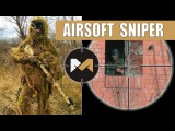 [Airsoft Sniper Gameplay] TM VSR-10 with Scope Cam and Ghillie suit. Снайпер на страйкболе
