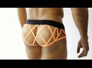 CandyMan 99191 Cage bum Briefs color Orange