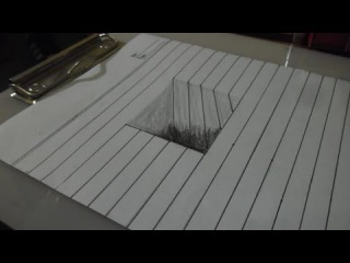 How To Draw A Simple 3D ART #4