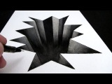 How to Draw a Hole in Paper: 3D Narrated Trick Art