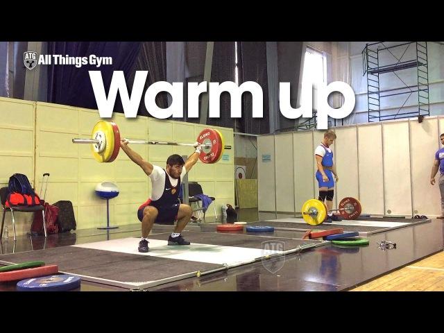 Viktor Getts Razmik Unanyan 77kg Warm up Area 2015 Russian Weightlifting Championships