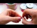 Бисероплетение для начинающих Урок 2 Круглый лепесток в технике французского плетения