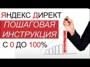 Настройка Яндекс Директ. Пошаговая Инструкция с 0 до 100%. Контекстная реклама
