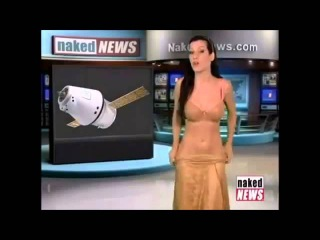 ГОЛАЯ Ведущая новостей,она разделась в прямом эфире