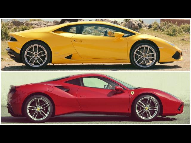 2016 Ferrari 488 GTB vs 2015 Lamborghini Huracan