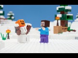 LEGO® Minecraft - The Snow Hideout - Stop Motion Mini Movie