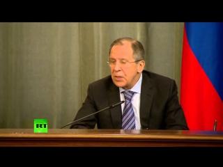 Пресс конференция Сергея Лаврова и главы МИД Южной Осетии